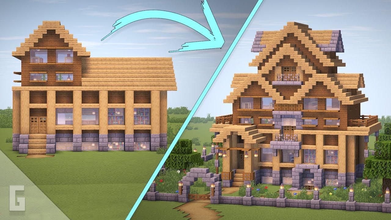 Minecraft 1 House 15 Upgrades Youtube