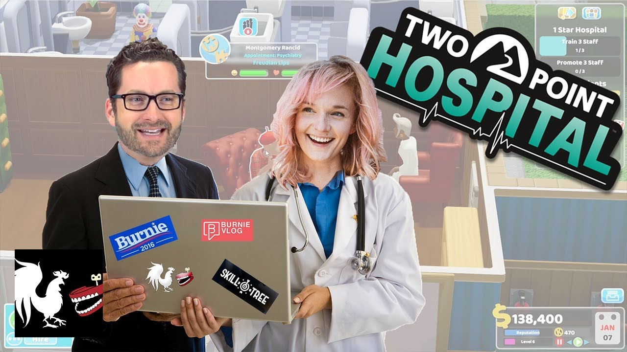 Game Time: Two Point Hospital with Ellie Main | Rooster Teeth