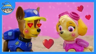 Paw patrol chase and Paw patrol skye fell in love. Love episode
