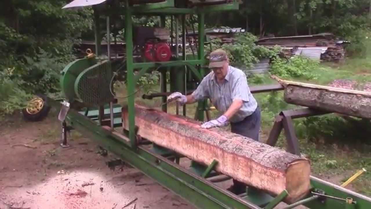 Esko S Homemade Bandsaw Mill Youtube