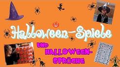 Halloween - Spiele und Sprüche - das Gruseln kann kommen 🎃
