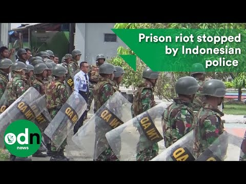 Prison riot stopped by Indonesian police