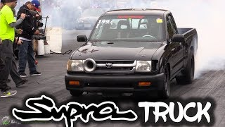 They took a 1000hp Supra Engine and Crammed it in a Truck!