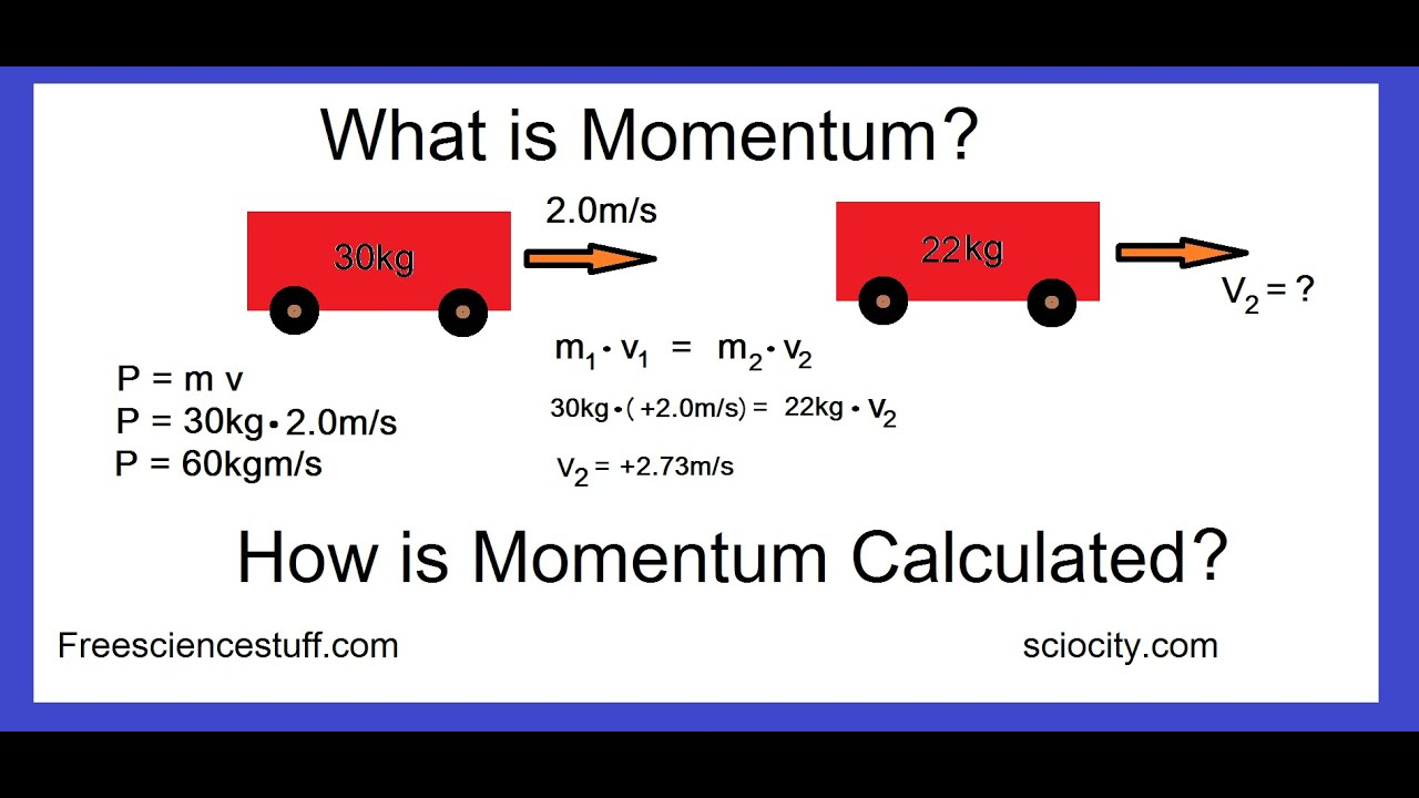 How To Calculate Momentum With Examples Youtube