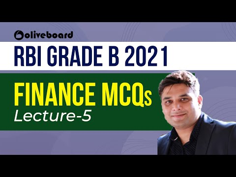 Lecture-5 | Finance MCQs | RBI Grade B 2021| Rohan Sir