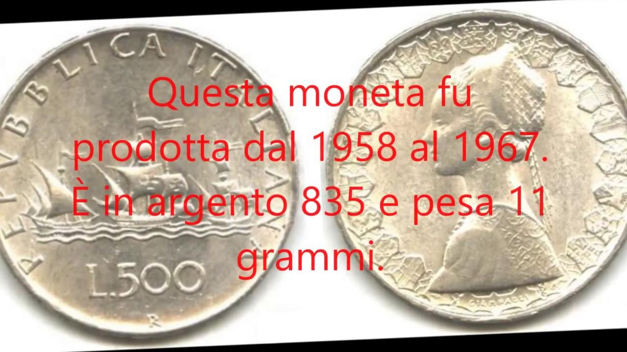 valore 500 lire argento