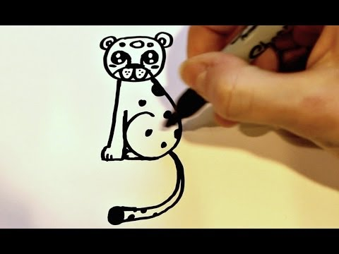 How To Draw A Cartoon Leopard Youtube