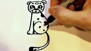 How to Draw a Cartoon Leopard(How to draw a cute and simple cartoon leopard in less than 3 minutes! Difficulty level 3/5. Be sure to subscribe to my channel for lots more drawing tutorials! :) ., 2014-03-02T22:26:15.000Z)