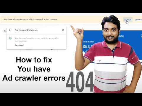 How to fix You have ad crawler errors which can result in lost revenue 2020 in hindi