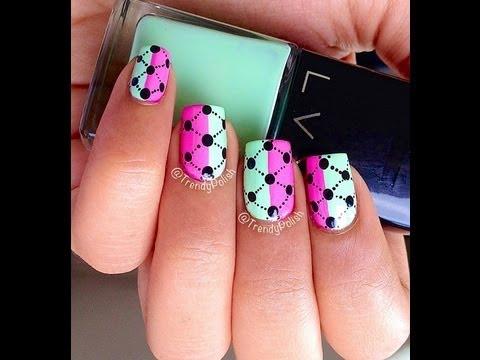 easy argyle dotticure nail art tutorial for beginners