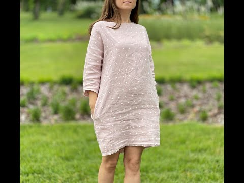 DIY linen tunic dress tutorial - no pattern needed
