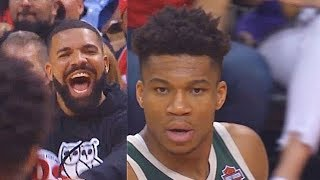 Drake Taunts Giannis Antetokounmpo With Raptors Crowd After Missed Free Throws In Game 4!