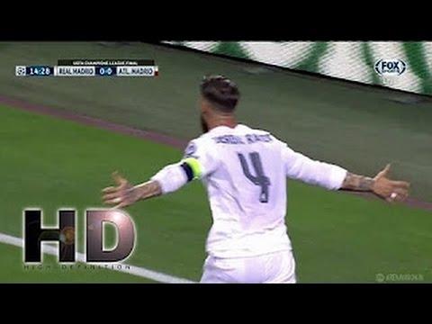 Sergio Ramos Goal - Real Madrid vs Atletico Madrid 1-0 - 28/05/2016 Final Champions League