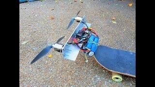Dual Motor Prop Powered Electric Skateboard