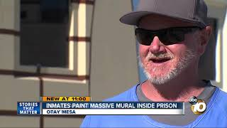 Menendez brothers help paint massive mural in SD prison