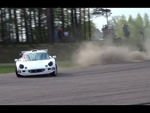 Amazing Lotus Exige with Honda K20A engine - Drift, Race start, spin