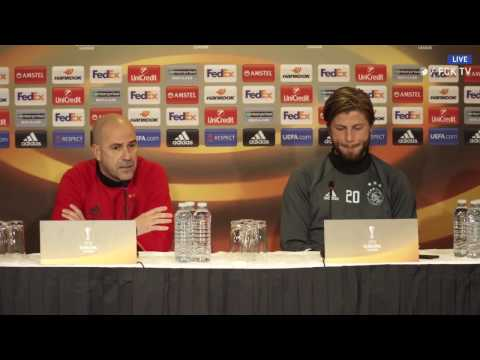 AFC Ajax Press Conference prior to the game against F.C. Copenhagen