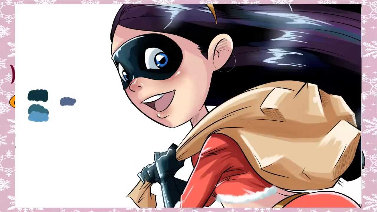 Speed Drawviolet Parr- Merry Christmas - Youtube-9538