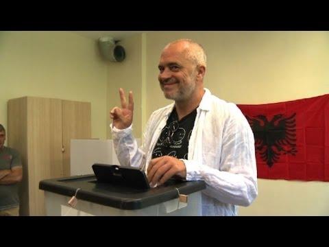 Albania: Socialist Prime Minister Edi Rama votes
