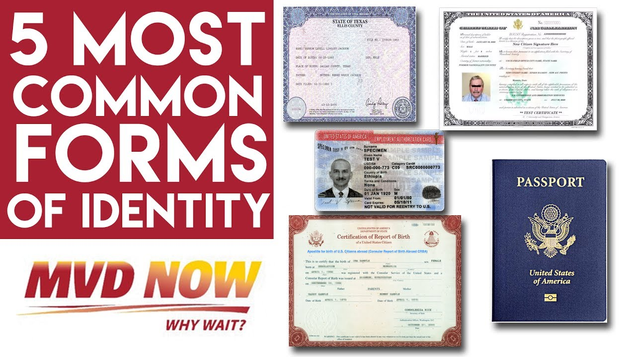 5 Most Common Forms Of Identity Real Id Nm Youtube