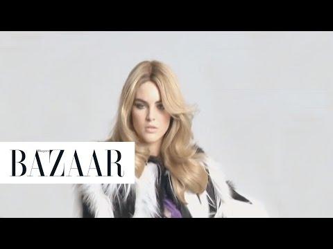 Liz Hurley, Carolyn Murphy & Hilary Rhoda | Behind the Scenes | Harper's BAZAAR
