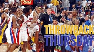 Pacers vs. Pistons Brawl [Throwback Thursday: Malice at the Palace]