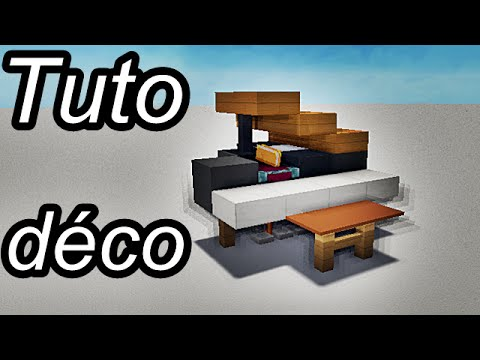 Minecraft tuto d co int rieur meubles 1 2 youtube for Decoration interieur