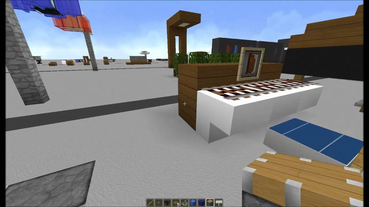 minecraft tuto d co int rieur meubles 1 2. Black Bedroom Furniture Sets. Home Design Ideas