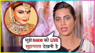 Arshi Khan Shocking Reaction on Rakhi Sawant's Marriage | Silent Ties Screening
