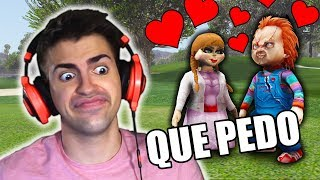 CHUCKY BESA A ANABELLE !! *Misión Secreta* - GTA 5 MODS PC