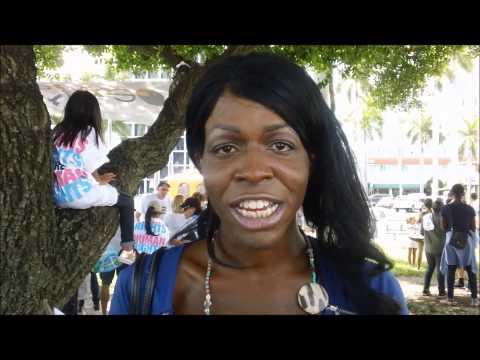 Aryah at LGBT Town Hall and Miami Trans Faith...