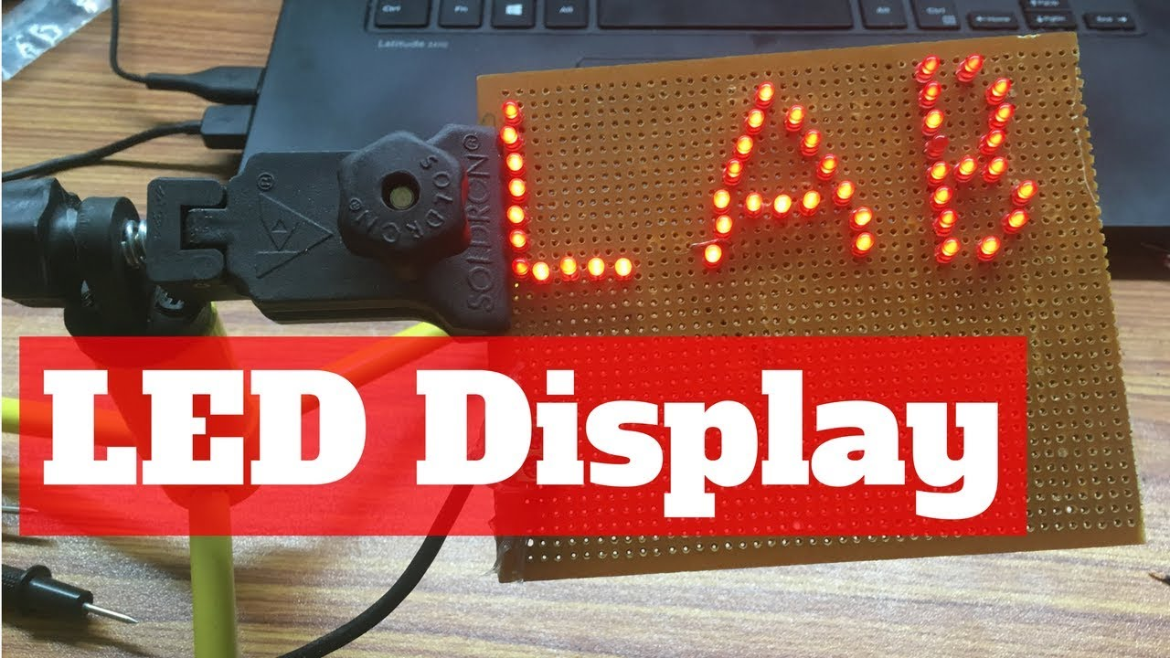 Diy Led Display Name Plate Design Time Lapse Fun Purpose Only