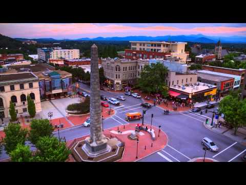 Downtown Asheville Time Lapse: Sunrise-to-Sunset in a Blue Ridge Mountain City