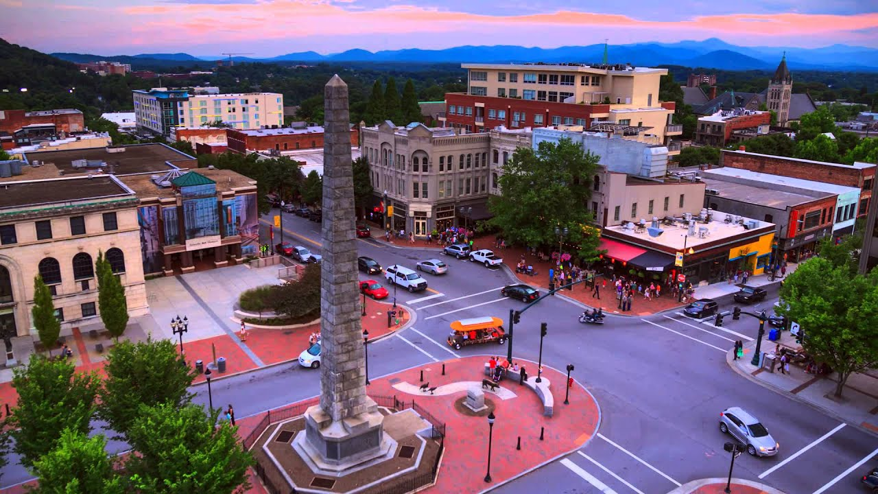 Downtown Asheville, N.C. Time Lapse: Sunrise-to-Sunset in ...