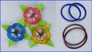 DIY Paper Flower, Very Easy Flower Making from Bangles, Flower Making