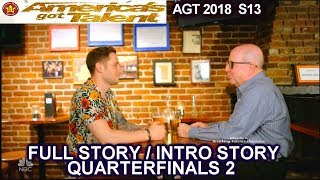 Samuel J Comroe and  his Dad  Full INTRO STORY QUARTERFINALS 2 America's Got Talent 2018 AGT