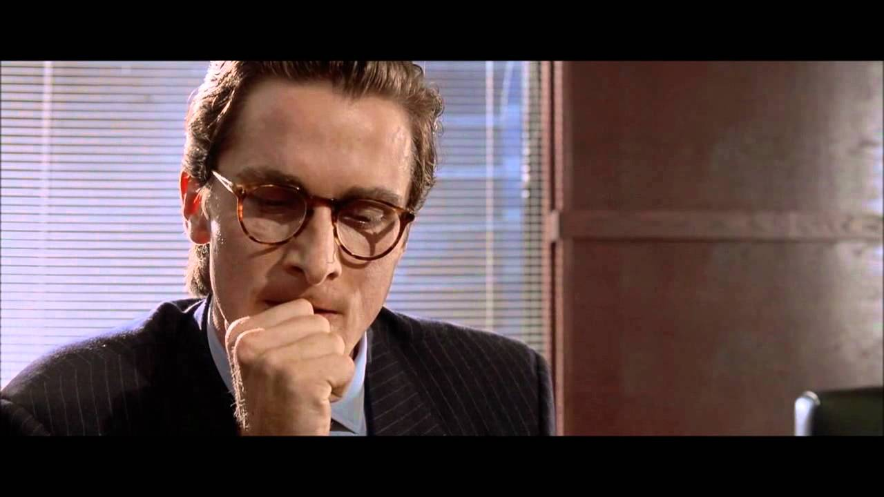 American Psycho - Business Card Scene - YouTube