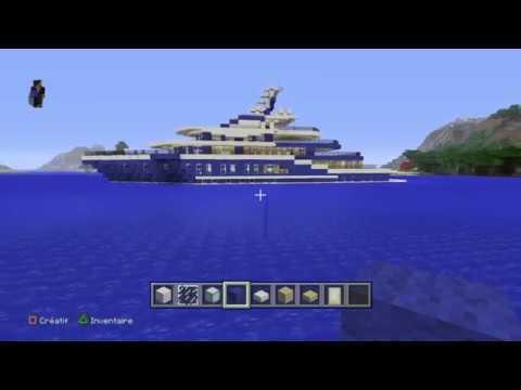 minecraft tuto comment faire un yacht de luxe youtube. Black Bedroom Furniture Sets. Home Design Ideas