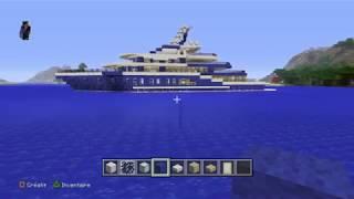 MINECRAFT TUTO comment faire un yacht de luxe