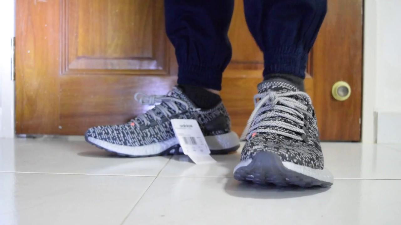 ecfe978771da0 Adidas Pure Boost LTD (Silver Pack) On Feet - YouTube