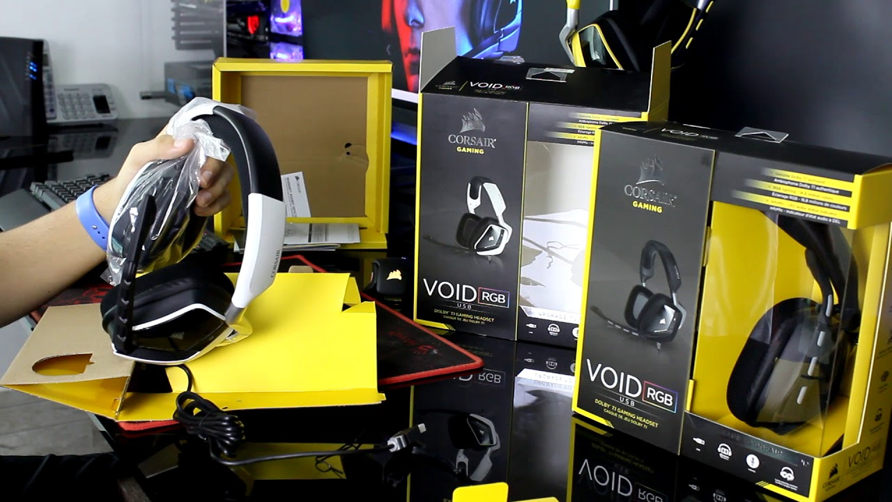 Headset Corsair Void RGB USB 7 1 Dolby Surround - Unboxing e Review