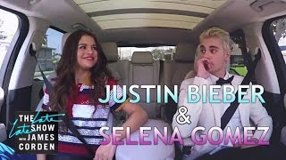 Repeat youtube video Justin Bieber & Selena Gomez Carpool Karaoke