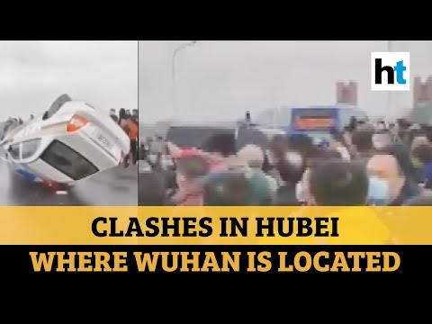 China: Violent Clashes As People Try To Leave Coronavirus-hit Hubei Province