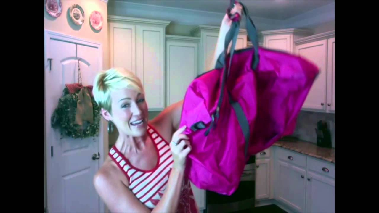 Foldable Travel Packable Duffle Bag Review - Carry On Luggage Size - YouTube cacaa630e8502