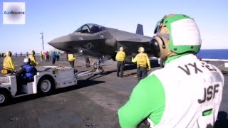 trillion dollar jet f 35 joint strike fighter aircraft carrier flight deck ops