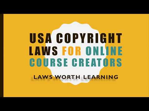 United States (US) Copyright Laws for Online Course Creators: A Practical Approach