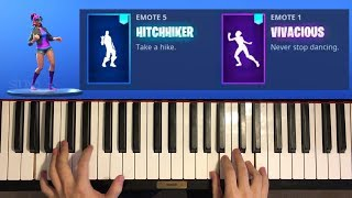 *NEW* Fortnite LEAKED Dances On Piano! (Vivacious, HitchHiker)