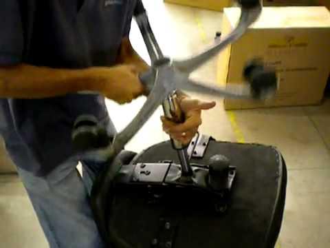 Desmontagem cadeira de escritorio giratoria - retirar o pistao a gas ...
