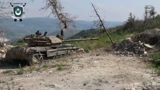 الفرقة الثانية الساحلية استهداف تلة ابو علي بقذائف الدبابات قبل اقتحامها وتحقيق اصابات دقيقة