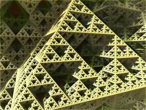 Fractal 3D Triangle Zoom in Mandelbulber